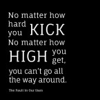 No matter how hard you kick, no matter how high you get, you can't go all the way around. - The Fault in Our Stars