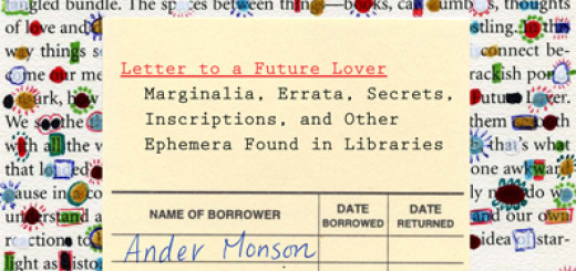 Letter to a Future Lover by Ander Monson